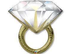 П Фигура, Кольцо с бриллиантом, 37