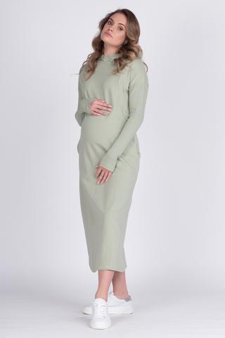 Платье для беременных и кормящих 12627 шалфей