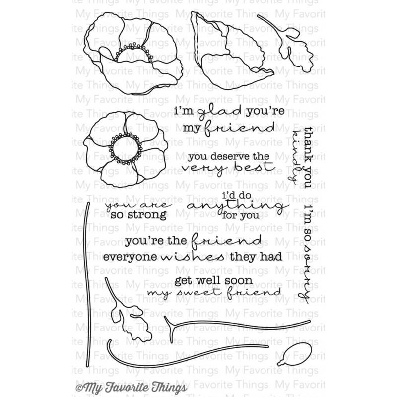 Набор штампов Delicate Pretty Poppies
