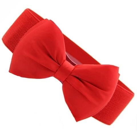 Купить Эластичный пояс с бантом (красный) в Магазине тельняшек