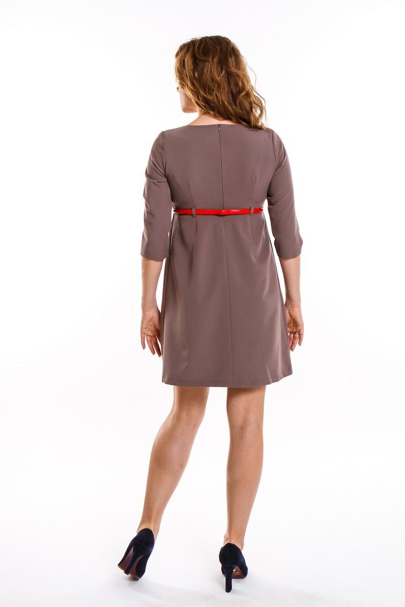 Фото платье для беременных Magica bellezza, классическое от магазина СкороМама, коричневый, капучино, размеры.