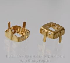 4428/S Сеттинг - основа Сваровски для страза 8х8 мм (цвет - латунь)