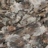 Шёлковый крепдешин с мотивом цветов в стиле фресковой живописи