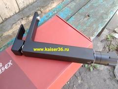 Смеситель KAISER Elite 01111-2 черный матовый высокий для раковины 3