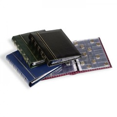 Альбом OPTIMA classic, включая 10 листов для монет, синий (по 2 х M15, M35, M54 и 4 х M24)