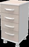 Тумба медицинская для оргтехники Т-1.02w тип 1 выс. АйВуд Medical Office
