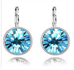Swarovski Crystall Zoetzl Sırğa - Blue