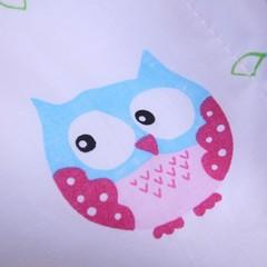 Летний яркий конверт-одеяло Valleri (совы розовый)