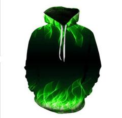 Толстовка утепленная  3D принт, Абстракция (3Д Теплые Худи Иллюзия) Пламя 12