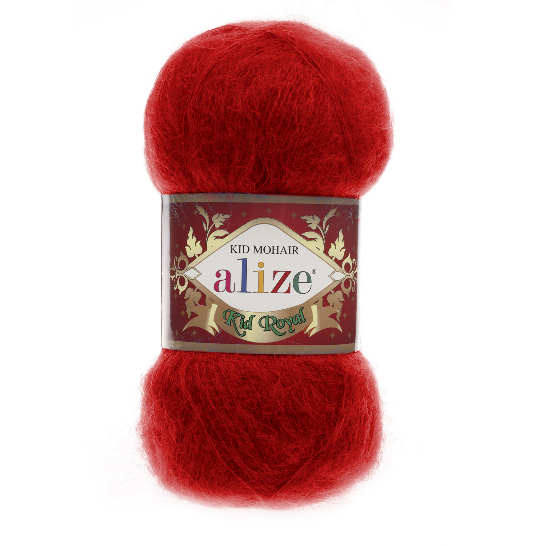 Пряжа Alize Kid royal красный 56