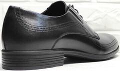 Модельные туфли мужские кожаные черные Ikoc 3416-1 Black Leather.