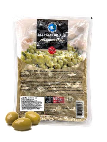 Оливки зеленые в вакууме Kokteyl 3XL, Marmarabirlik, 500 г