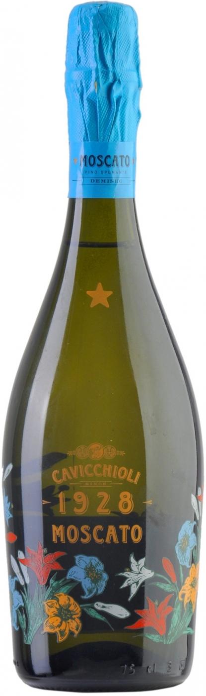 Вино игристое Кавиккьоли Москато белое полусухое 0,75л