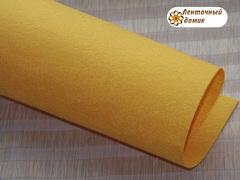 Фетр жесткий толщина 1 мм оранжевый