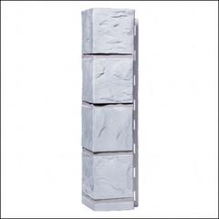 Наружный угол для фасадных панелей FineBer Камень Мелованный белый