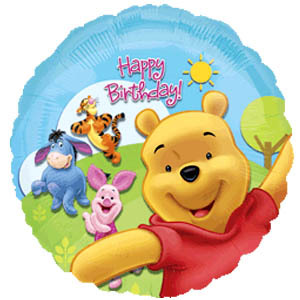 Фольгированный шар С Днем Рождения Винни Пух с друзьями 18
