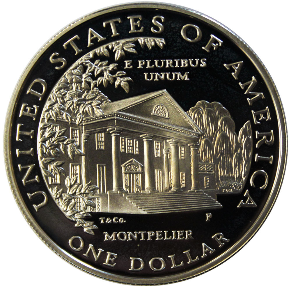 1 доллар 1999 (P) (Долли Мэдисон. Дом Монпелье) PROOF