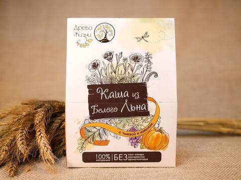 Каша из Белого льна с тыквой и изюмом, 350 гр. (Источник жизни)