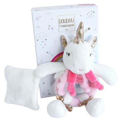 Doudou et Compagnie. Единорог розовый погремушка 17 см