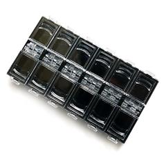 Боксы для хранения украшений, черный, 12 ячеек