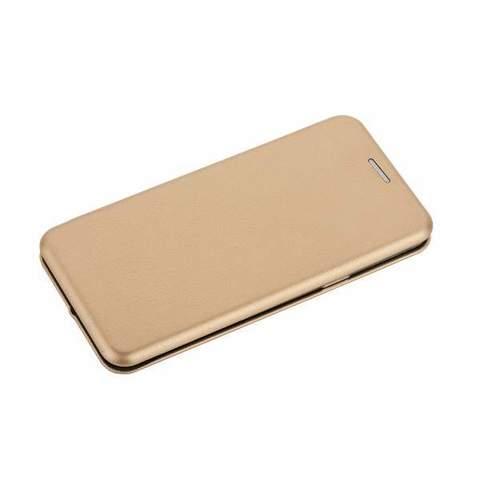 Чехол-книжка кожаный Fashion Case Slim-Fit для Samsung Galaxy S9 Black Золотой