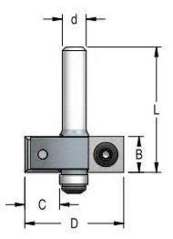 Фреза для выборки четверти со сменными ножами 35x12x65x12 C12.7 W.P.W.