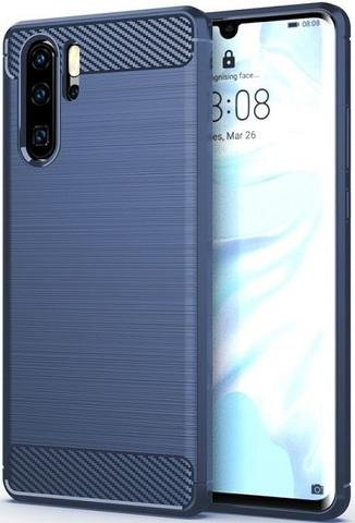 Чехол Carbon для Huawei P30 Pro серия Карбон | синий