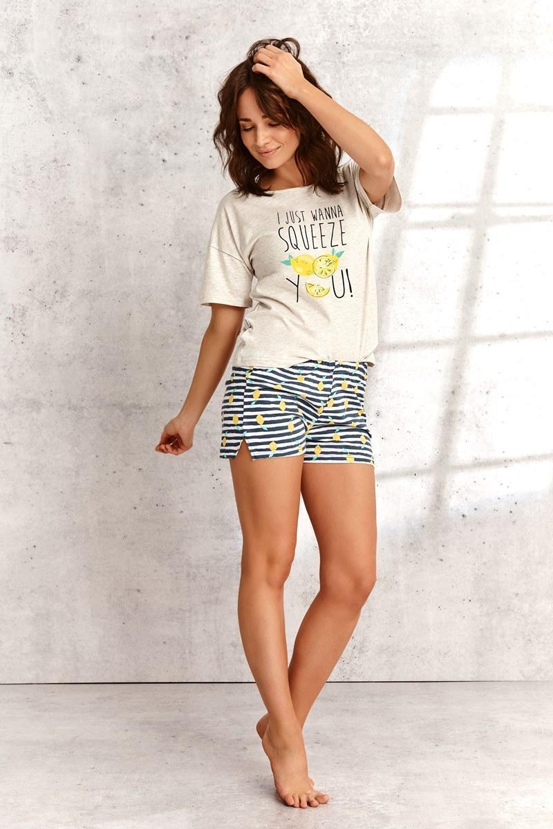 Пижама женская с шортами TARO 2495 SS21 LEMON