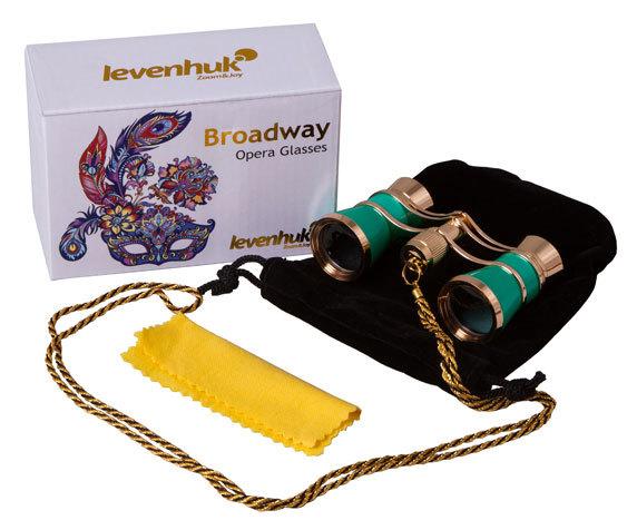Театральный бинокль с цепочкой Levenhuk Broadway 325C Lime - фото 2 - комплект поставки