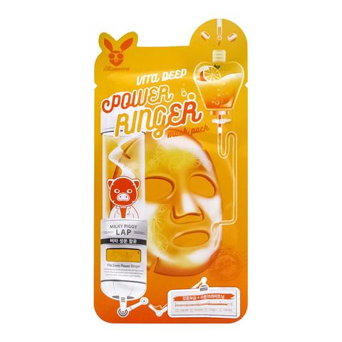 Тканевая маска для лица с витаминами VITA DEEP POWER RING MASK PACK, 23мл, Elizavecca