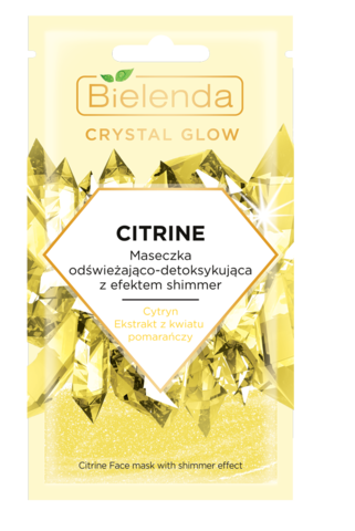 CRYSTAL GLOW CITRINE маска для лица освежающая и детоксицирующая с эффектом мерцания 8мл