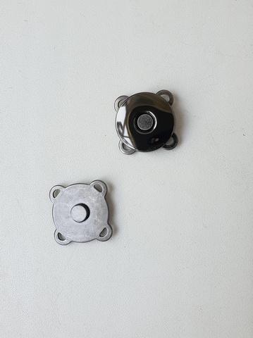 Кнопка магнитная пришивная диаметр 18 мм, цвет темный никель