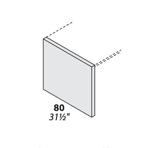 Опора для столешницы крайняя (дсп) 800 мм LOGIC