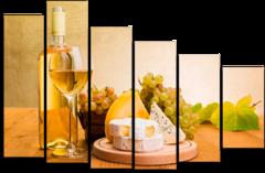 """Модульная картина """" Вино и сыр """""""