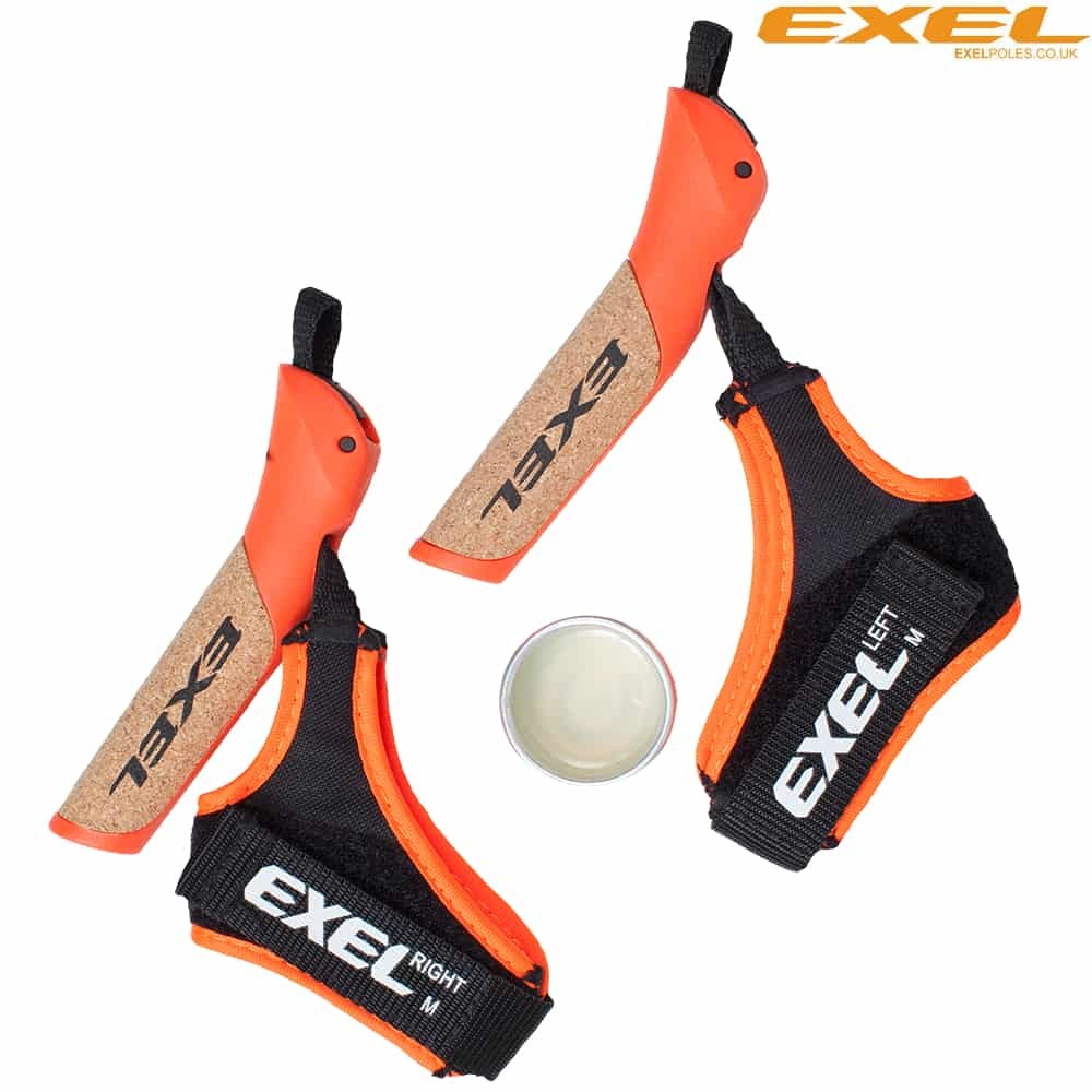 Рукоять с темляком EXEL C CORK GRIP EVOLUTION ORANGE + FUSION STRAP + GLUE