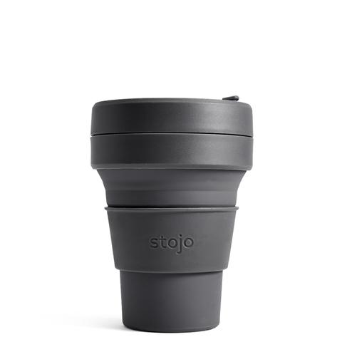 Стакан складной силиконовый Stojo Pocket Cup Carbon, 12 oz / 355 мл