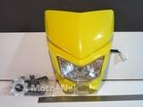 Фара эндуро Kawasaki KLX 250 жёлтая