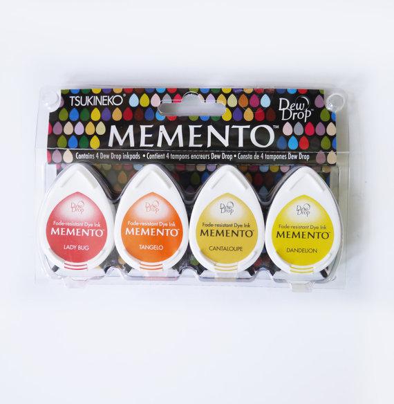 Набор штемпельных подушечек mini - MEMENTO