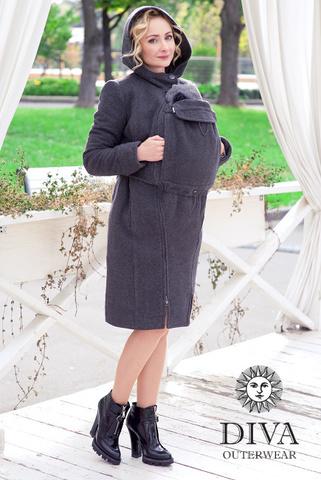 Слингопальто зимнее 3в1 Diva Outerwear Antracite