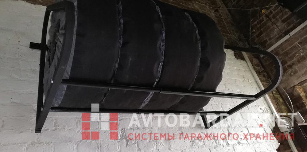 Раздвижная полка для колес XXL (комплект колес до R22, шириной до 330мм). Нагрузка 300 кг
