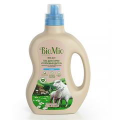BIO MIO экологичный гель и пятновыводитель для стирки белья. Концентрат без запаха 1,5 л