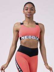 Топ NEBBIA Power Your Hero iconic sports bra 535 PEACH