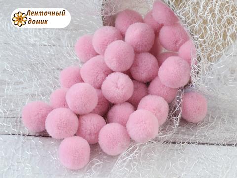 Помпоны кашемировые светло-розовые 20 мм