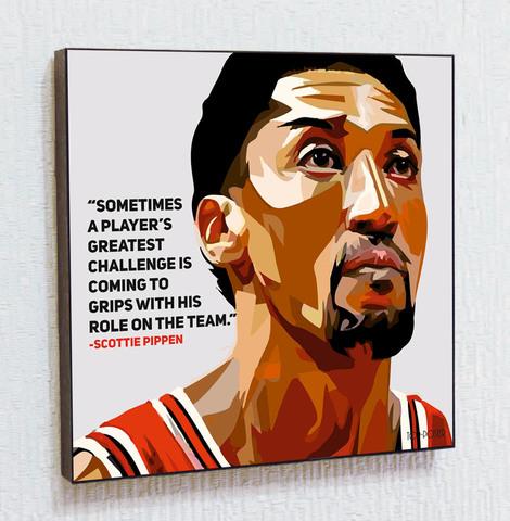 Картина постер Скотти Пиппен в стиле ПОП-АРТ