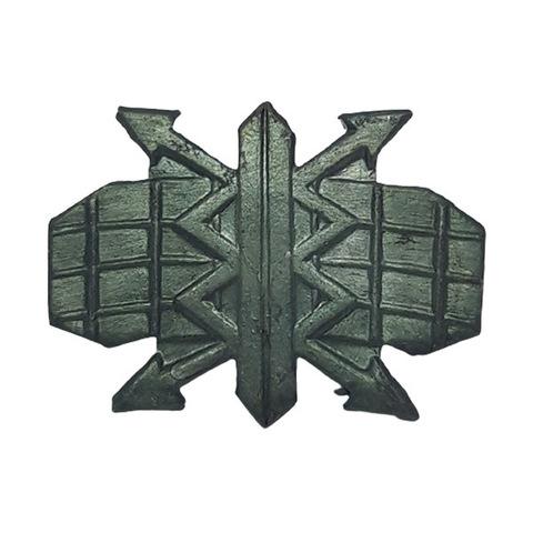 Эмблема петличная РТВ ВВС, металл. защитный