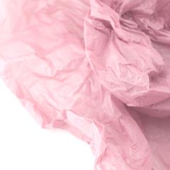 Водостойкая тишью для цветов, нежно-розовая, 0,6 м*10 м