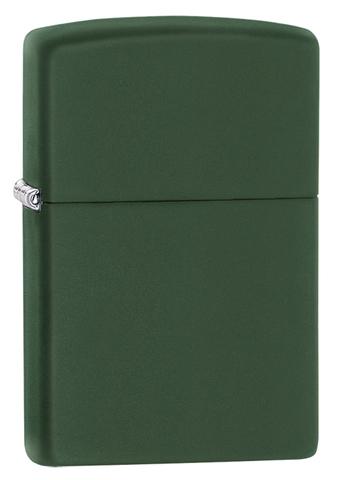 Зажигалка Zippo Classic с покрытием Green Matte, латунь/сталь, зелёная, матовая, 36x12x56 мм