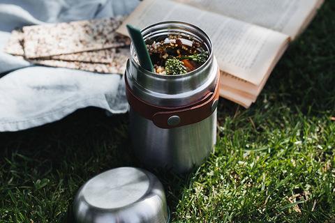 Термос Black+Blum, Food Flask, 400 мл, зеленый