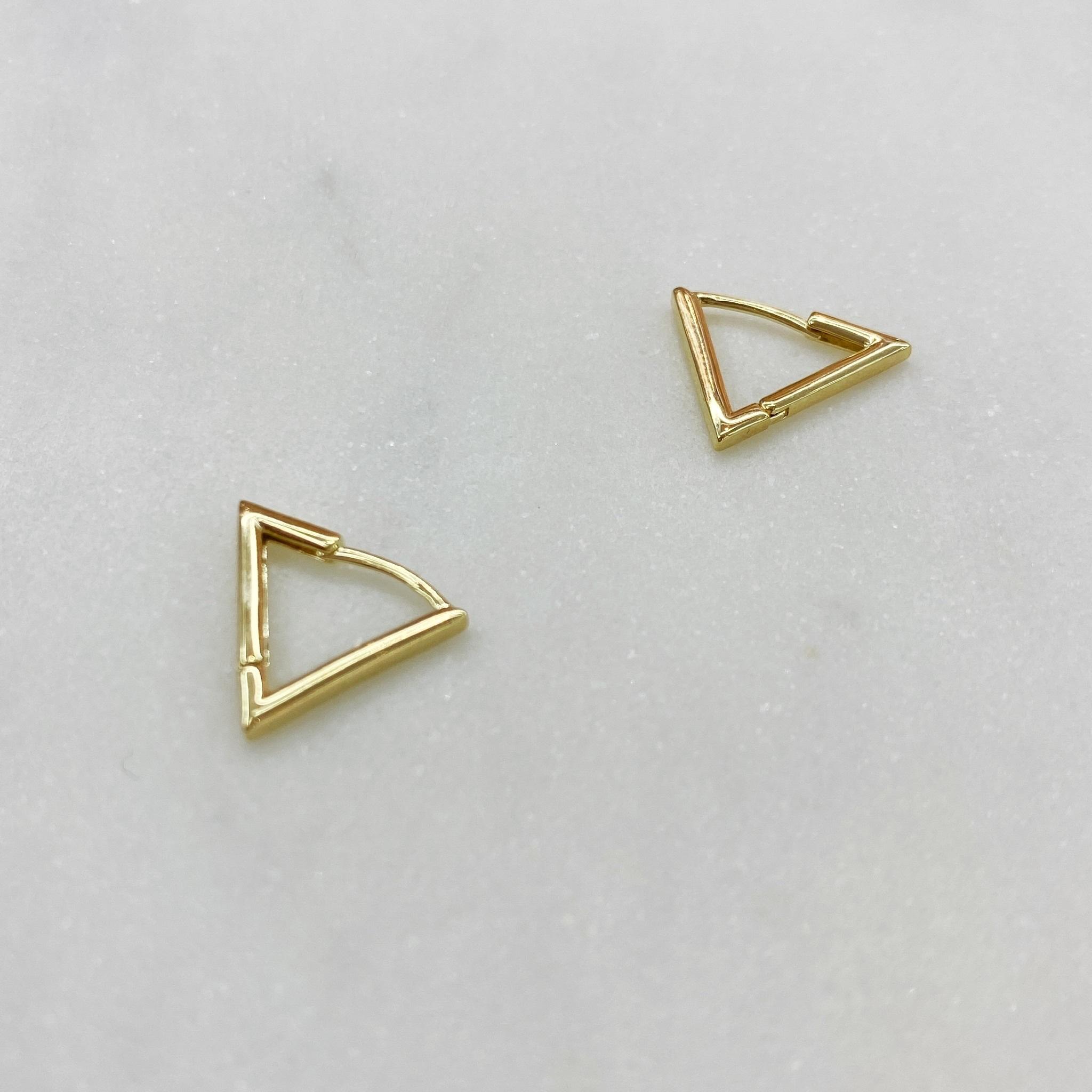 Серьги Треугольники 1 см (золотистый)