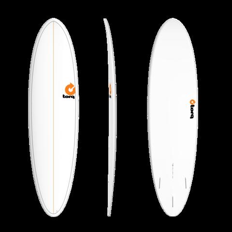 TORQ TET Long 9'6'' - White + Pinlines